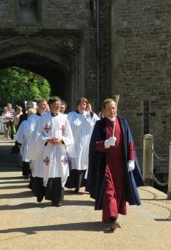 Celebrations at Wells Cathedral as priests and deacons are ordained.