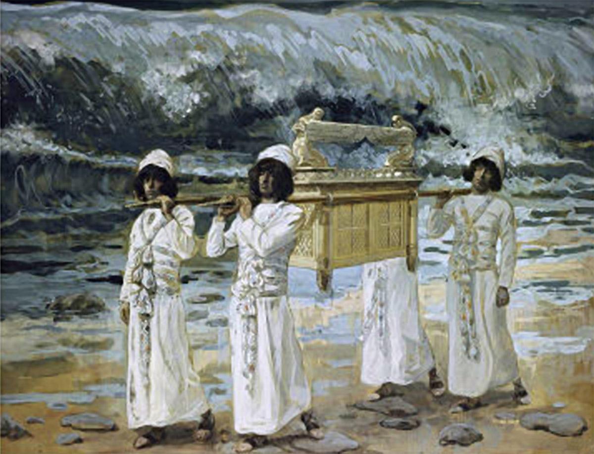 The Ark of the Covenant crossing the Jordan River